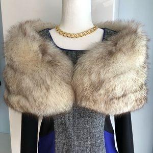 VTG Real Fox Fur Shrug Shawl Stole Wrap Early 70's